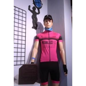 Equipación rosa Team Pedales del Mundo